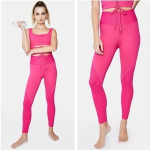 Year Of Ours Teddy Ribbed Leggings Pink Magenta